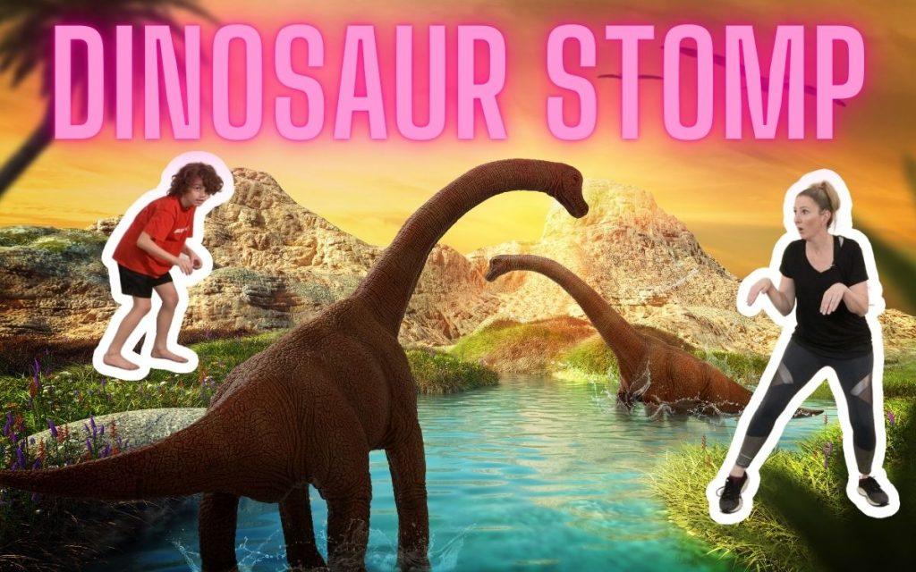 Stomp & Move Like A Dinosaur Dance Activity for Kids
